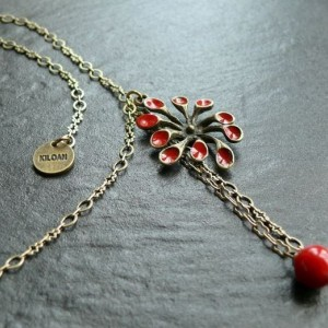 Collier Spoutnik rouge