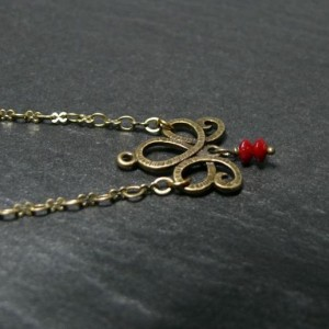 Collier Audrey Rouge