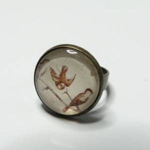 Bague flying bird vintage bronze
